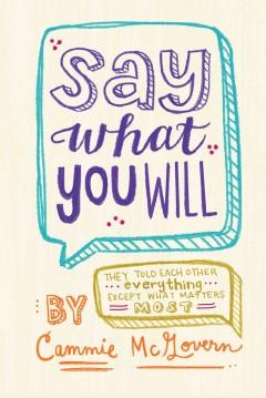 'Say What You Will' by Cammie McGovern