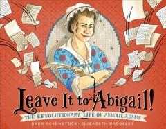Book Cover: 'Leave it to Abigail'