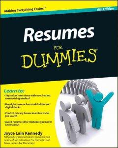 'Resumes for Dummies' by Joyce Lain Kennedy