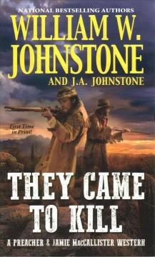 Book Cover: 'They came to kill'