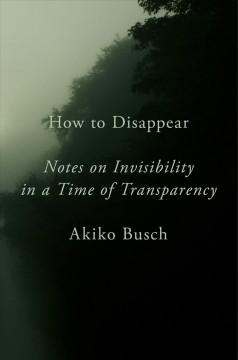Book Cover: 'How to disappear'