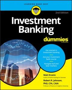 Book Cover: 'Investment banking for dummies'