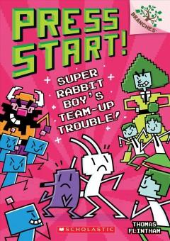 Book Cover: 'Super Rabbit Boys team-up trouble'