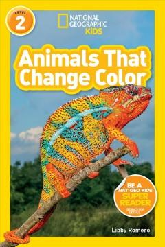 Book Cover: 'Animals that change color'