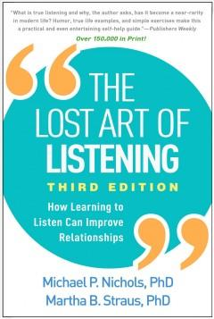 Book Cover: 'The lost art of listening'
