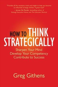 Book Cover: 'How to think strategically'