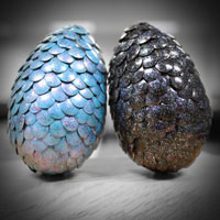 two crafted dragon eggs