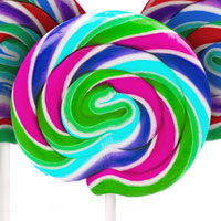 colorful lollipop candy