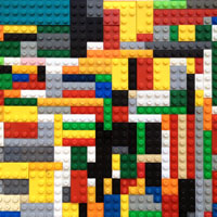 LEGO blocks in a 2-D pattern