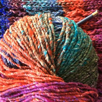 yarn project and knitting supplies