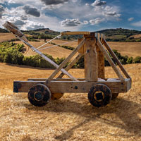 catapult in a field