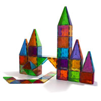 castle made from Magna-Tiles