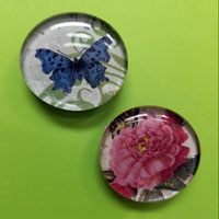 decorative magnets with flower and butterfly designs
