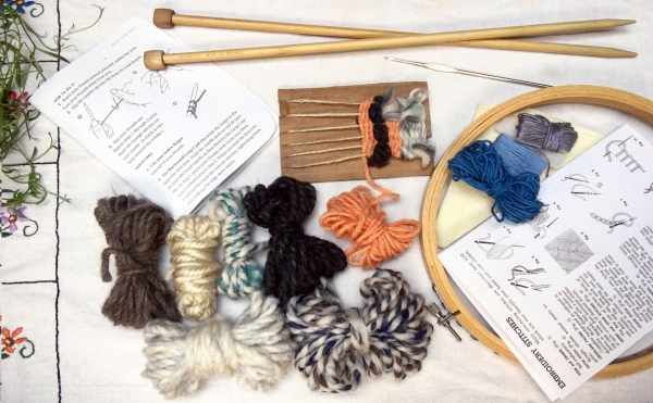 knitting and crocheting supplies